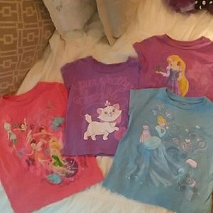 Lot of Disney Tee Shirts Girls Princess